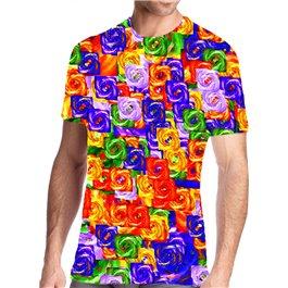 Camisetas técnicas de hombre Chakras - Arco Iris