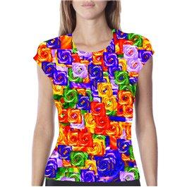 Camisetas técnicas de mujer Chakras - Arco Iris