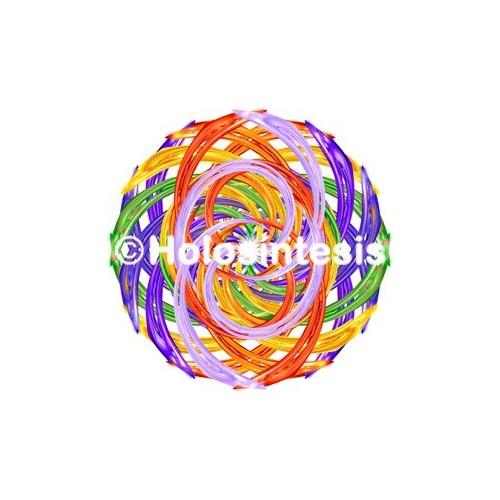 Medallones de resina Chakras - Arco Iris